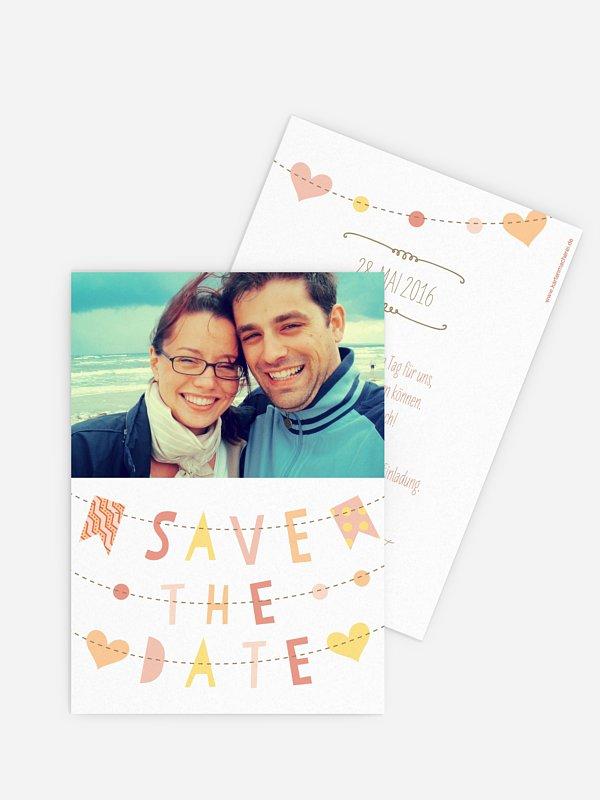 Save-the-Date Karte Festive