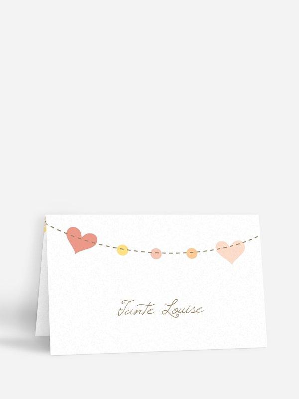 Tischkarte Hochzeit Festive