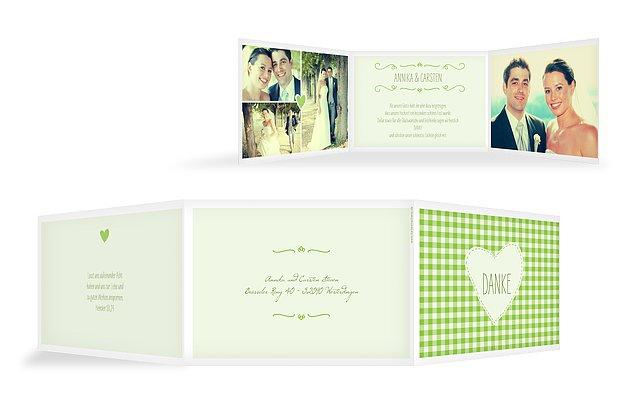 """Dankeskarte Hochzeit """"Vichy Karo"""""""