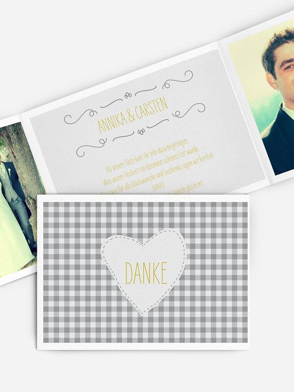 Dankeskarte Hochzeit Vichy Karo
