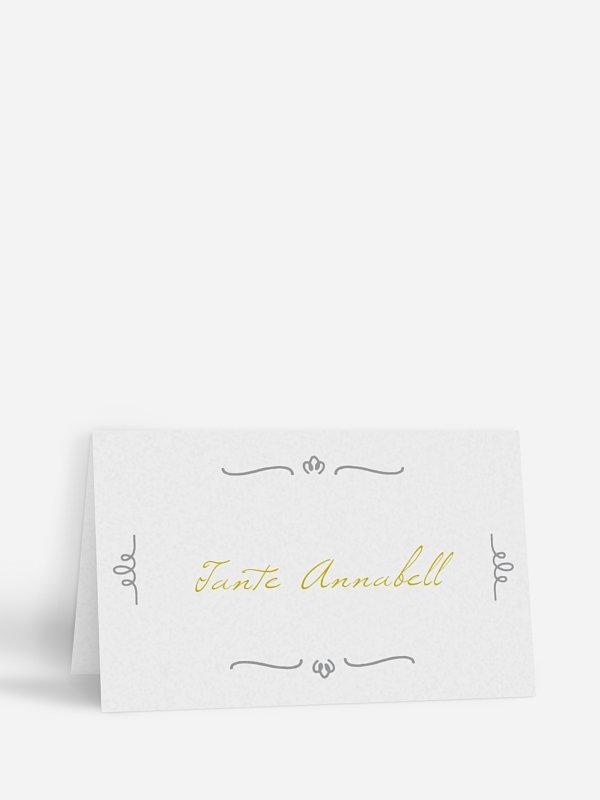 Tischkarte Hochzeit Vichy Karo