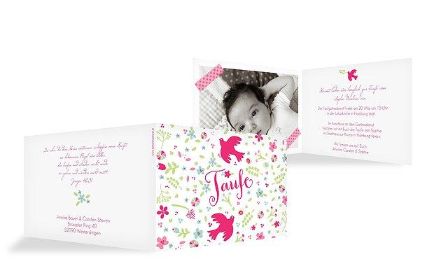 Pics Photos - Geburtskarten Und Einladungskarten Zur Taufe Selbst ...