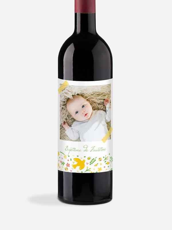 Étiquette pour bouteille Vol de colombes