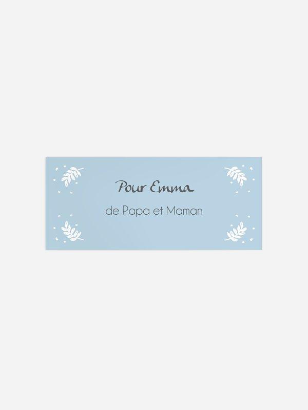 Étiquette cadeau Noël Frosted Heart