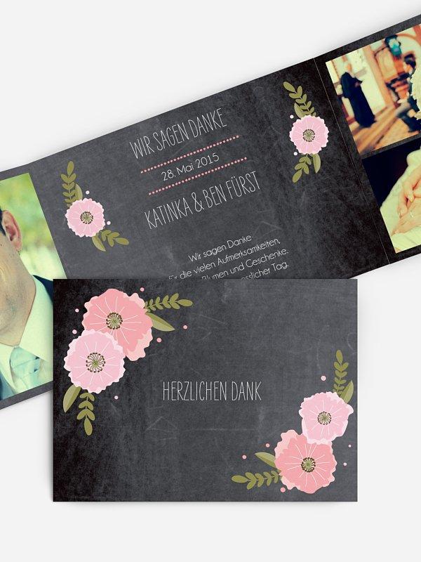 Dankeskarte Hochzeit Poppies