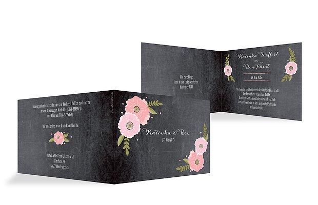 Hochzeitseinladung Poppies