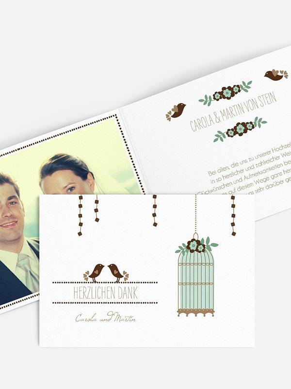 Dankeskarte Hochzeit Birds