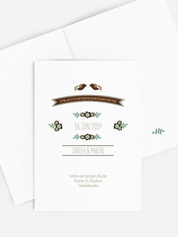 Kirchenheft Hochzeit Birds