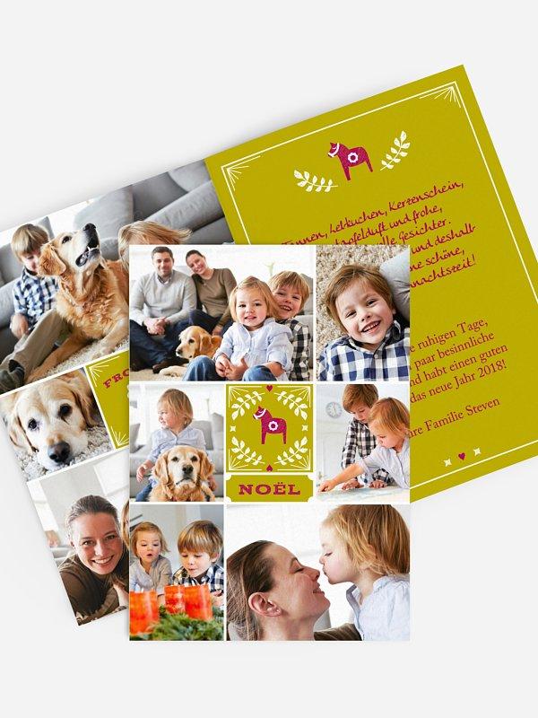Weihnachtskarte Bon Noël