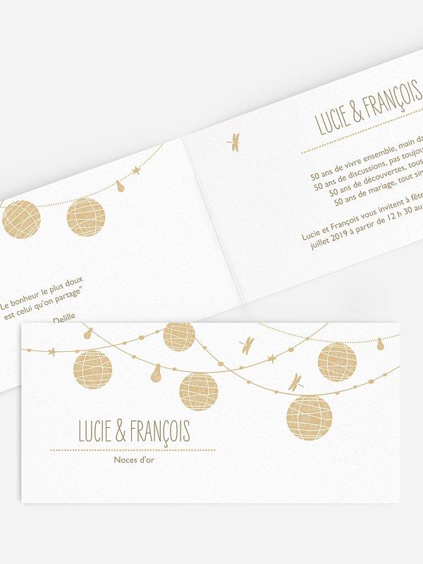Invitation Anniversaire Mariage 50 Ans Lanterne