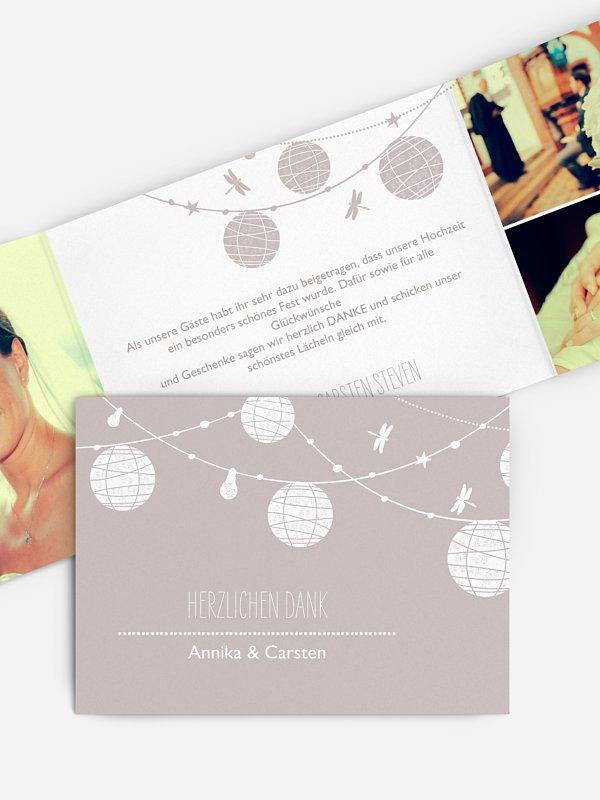 Dankeskarte Hochzeit Paperlanterns