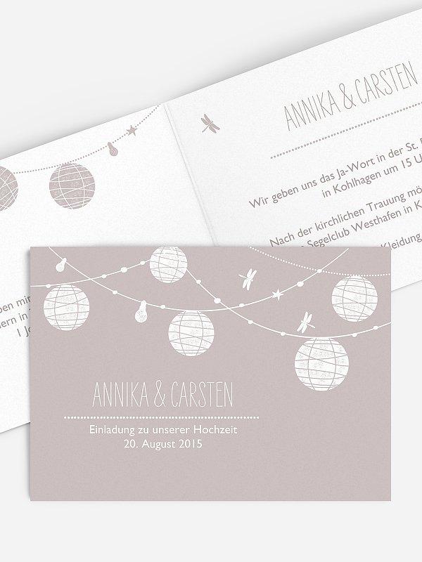 Hochzeitseinladung Paperlanterns