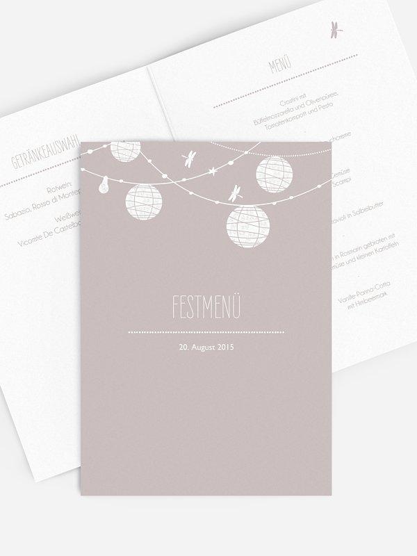 Menükarte Hochzeit Paperlanterns