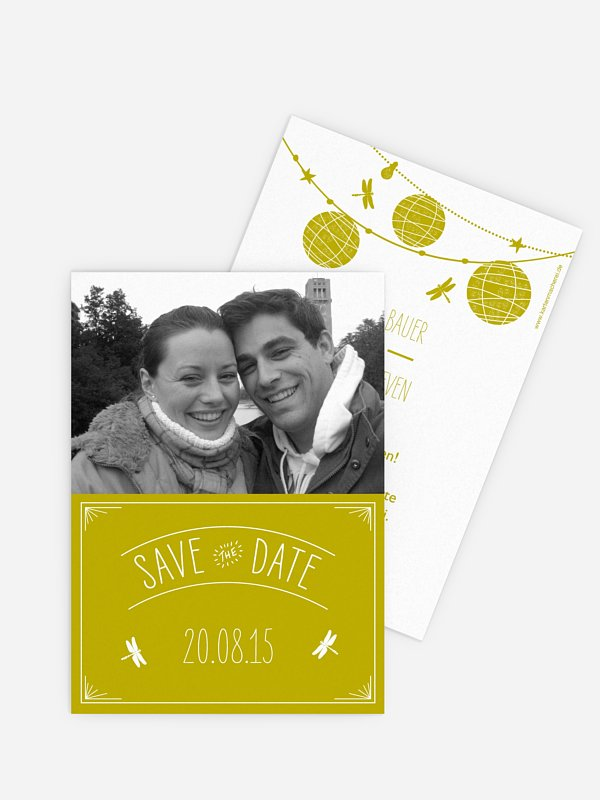 Save-the-Date Karte Paperlanterns