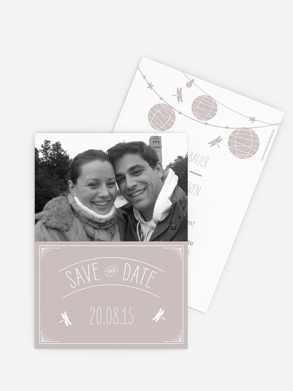 Save-the-Date Karte Paperlanterns