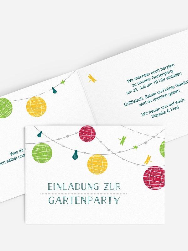 Partyeinladung Paperlanterns