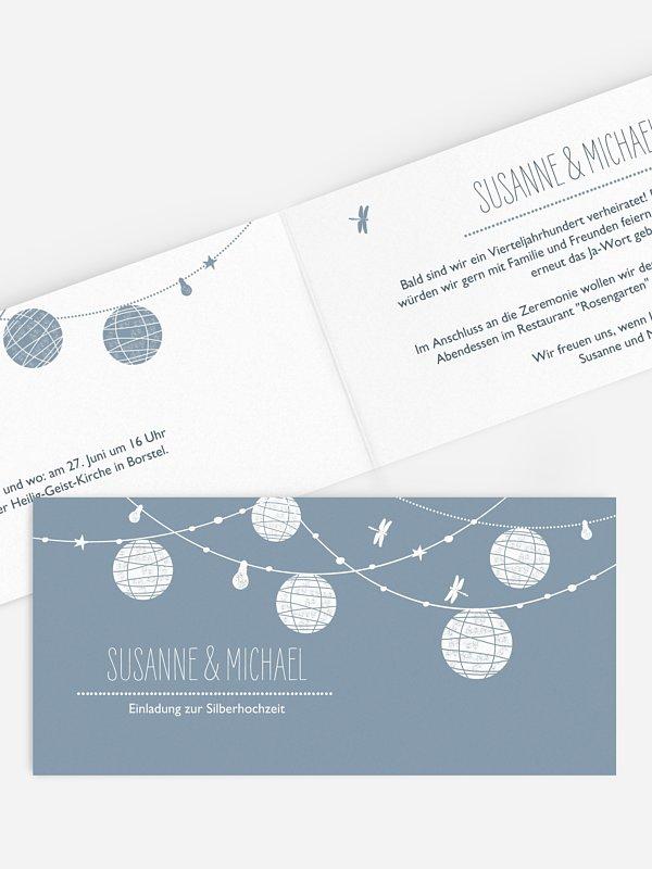 Einladung zur Silberhochzeit Paperlanterns
