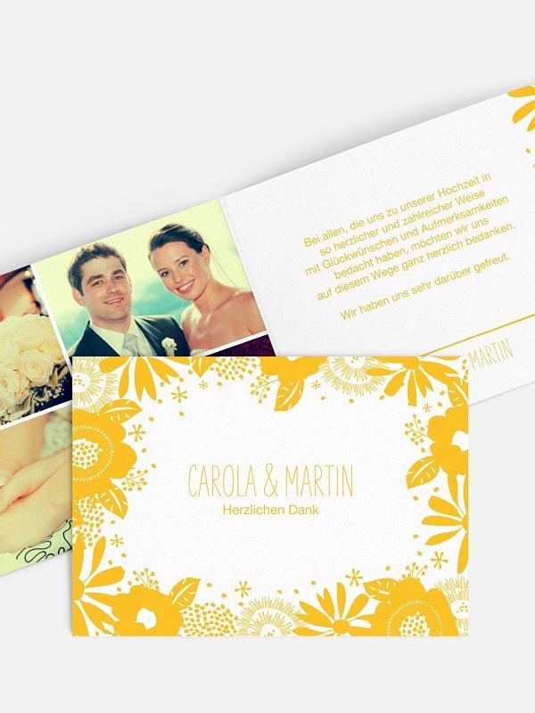 Dankeskarte Hochzeit Gardenview