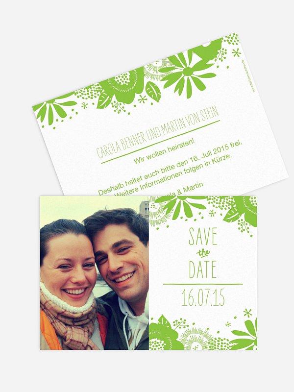 Save-the-Date Karte Gardenview