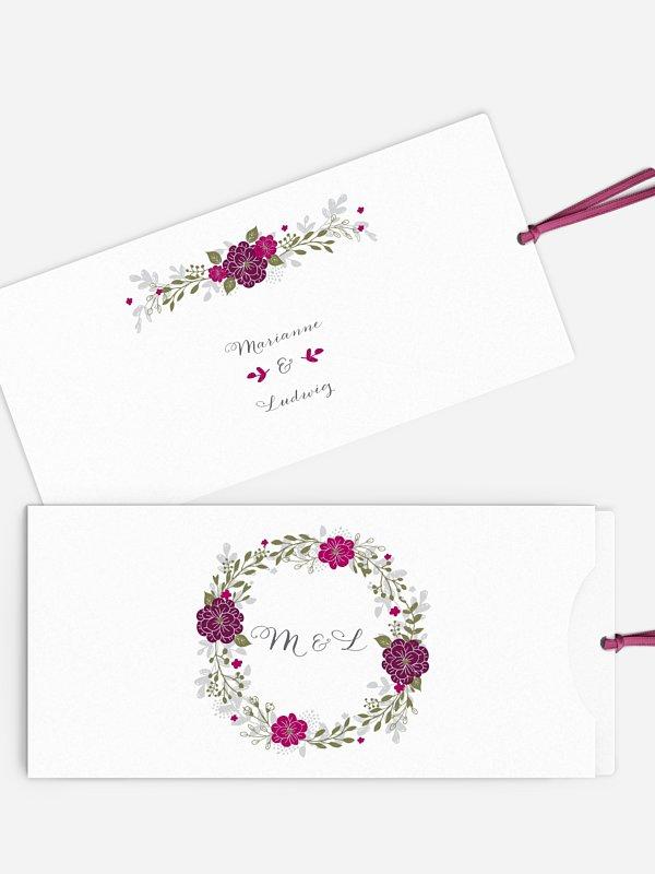 Einladung zur Goldenen Hochzeit Blumenkranz