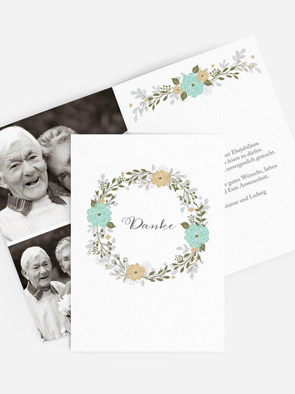 Danksagung zur Goldenen Hochzeit Blumenkranz