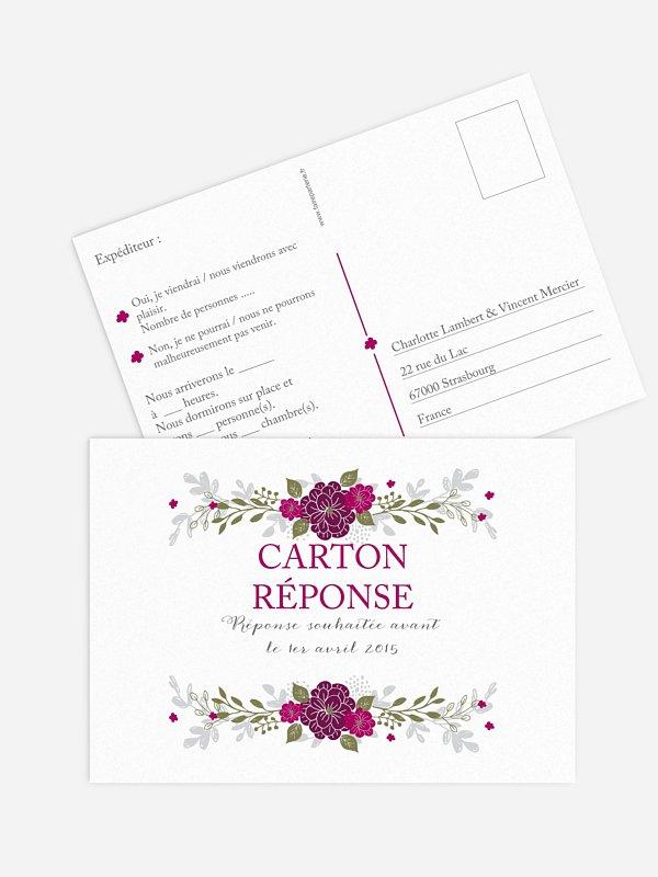 Carton réponse Couronne de fleurs