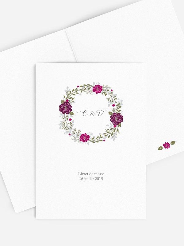 Livret de messe mariage Couronne de fleurs