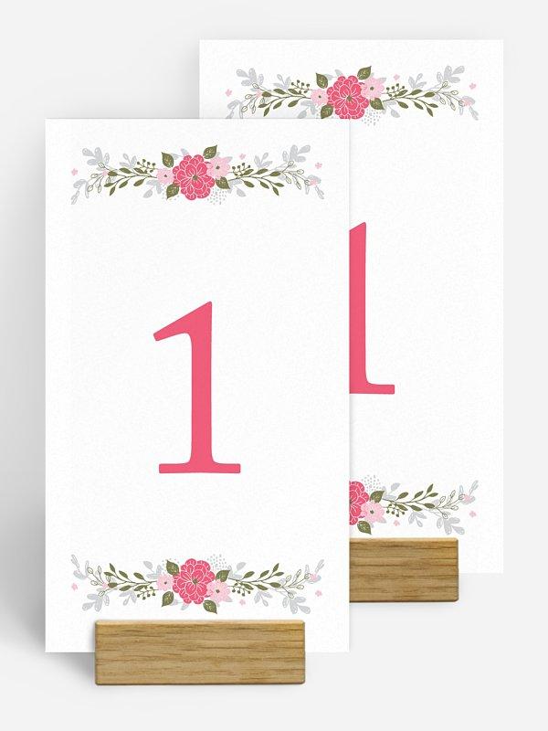 Tischnummer Blumenkranz