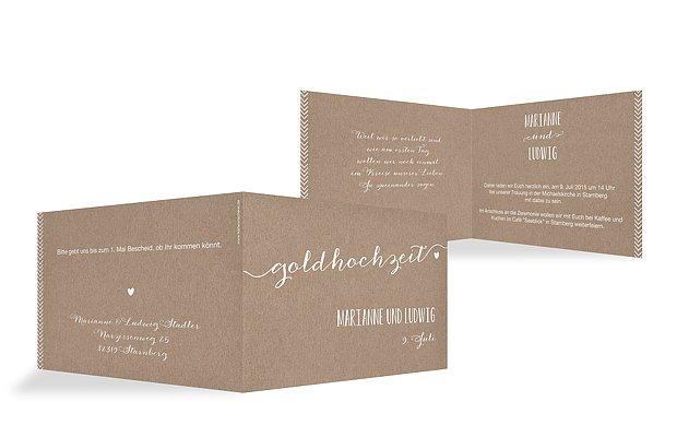 """einladung goldene hochzeit """"kalligrafie"""", Einladungsentwurf"""