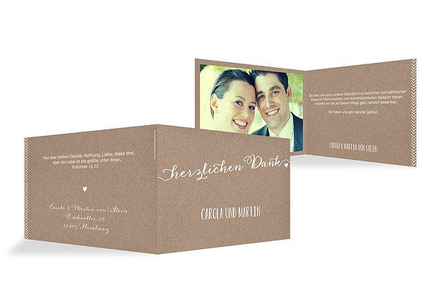 """Dankeskarte Hochzeit """"Kalligrafie"""""""