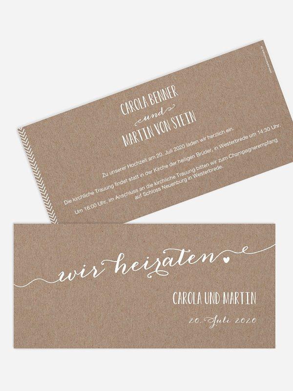 Hochzeitseinladung Kalligrafie