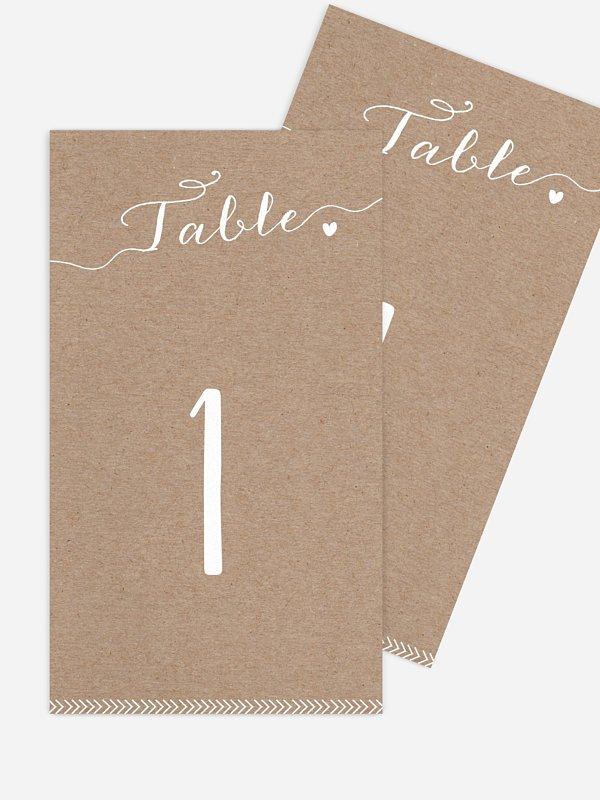 Numéro de table mariage Un beau jour