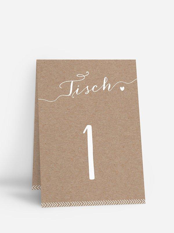 Tischnummer Kalligrafie