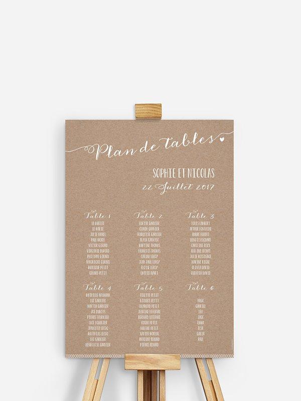 Poster plan de table mariage Un beau jour