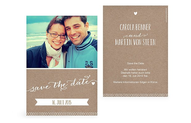 "Save-the-Date Karte ""Kalligrafie"""