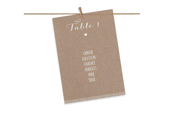Cartons plan de table mariage Un beau jour