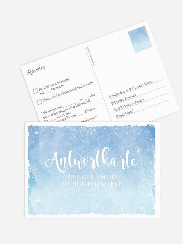 Antwortkarte Hochzeit Frozen