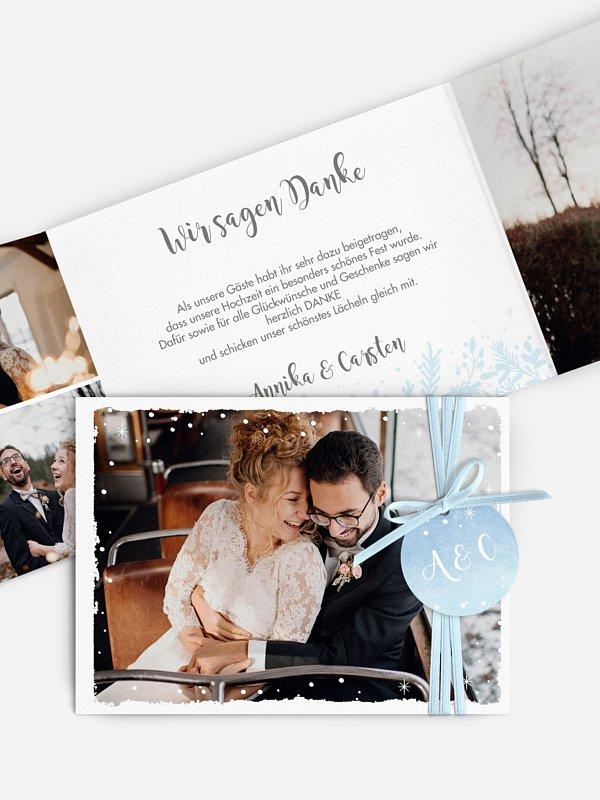 Dankeskarte Hochzeit Frozen