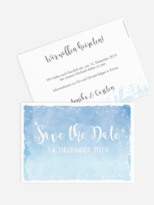 Save-the-Date Karte Frozen
