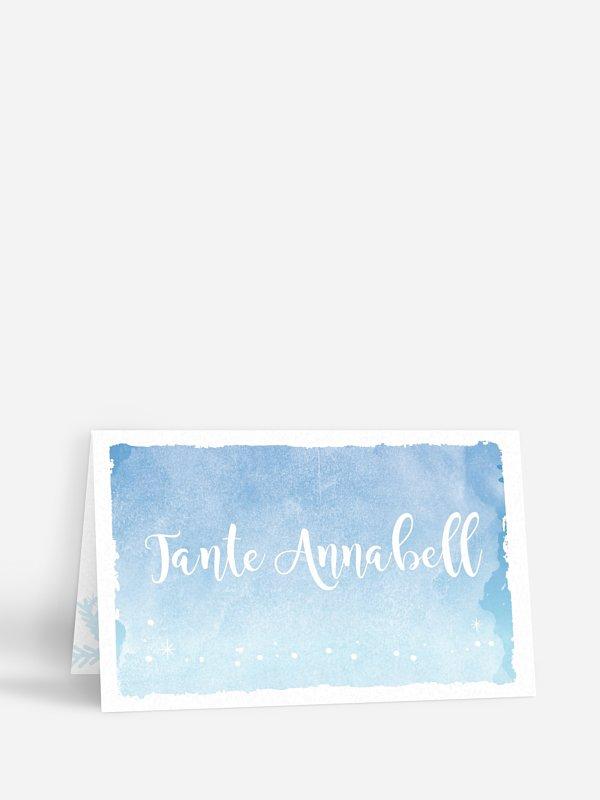 Tischkarte Hochzeit Frozen