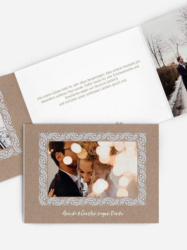 Dankeskarte Hochzeit Winter Frame