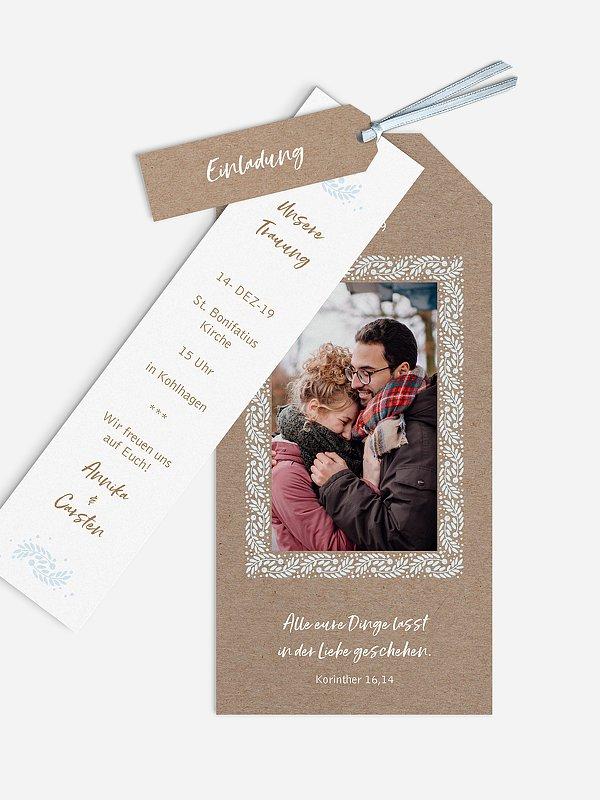 Hochzeitseinladung Winter Frame