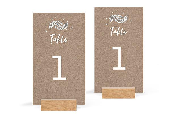 Numéro de table mariage Cadre hivernal