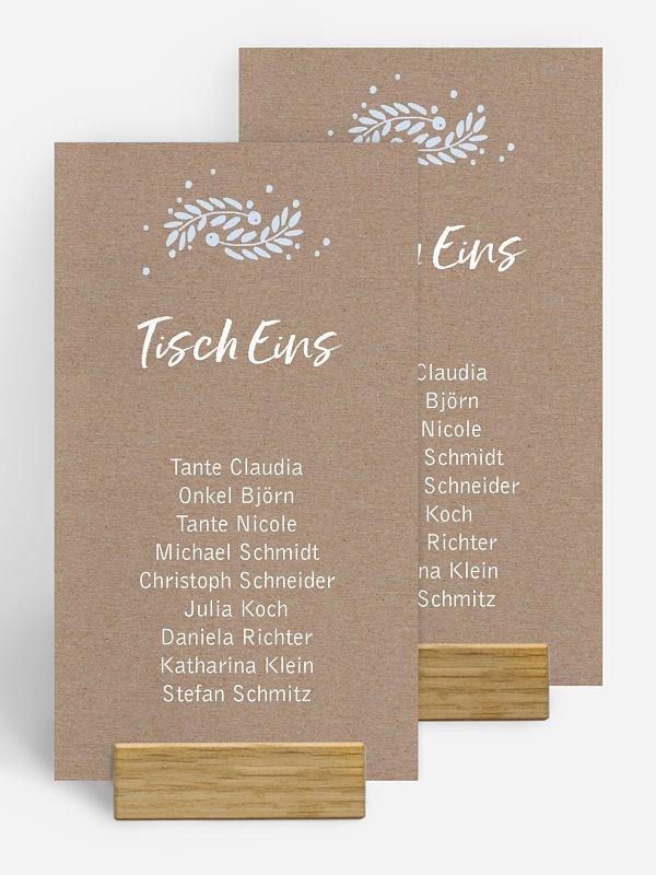 Gruppentischkarte Winter Frame