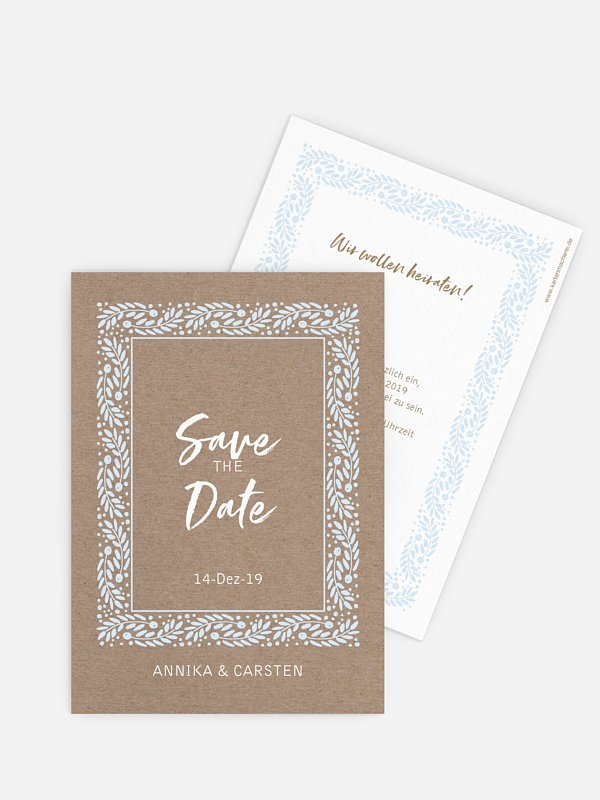 Save-the-Date Karte Winter Frame