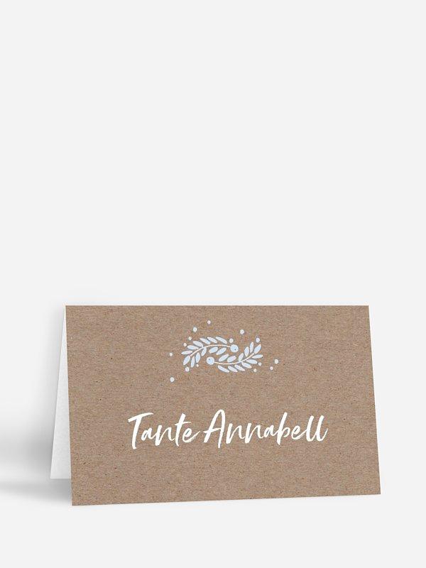 Tischkarte Hochzeit Winter Frame