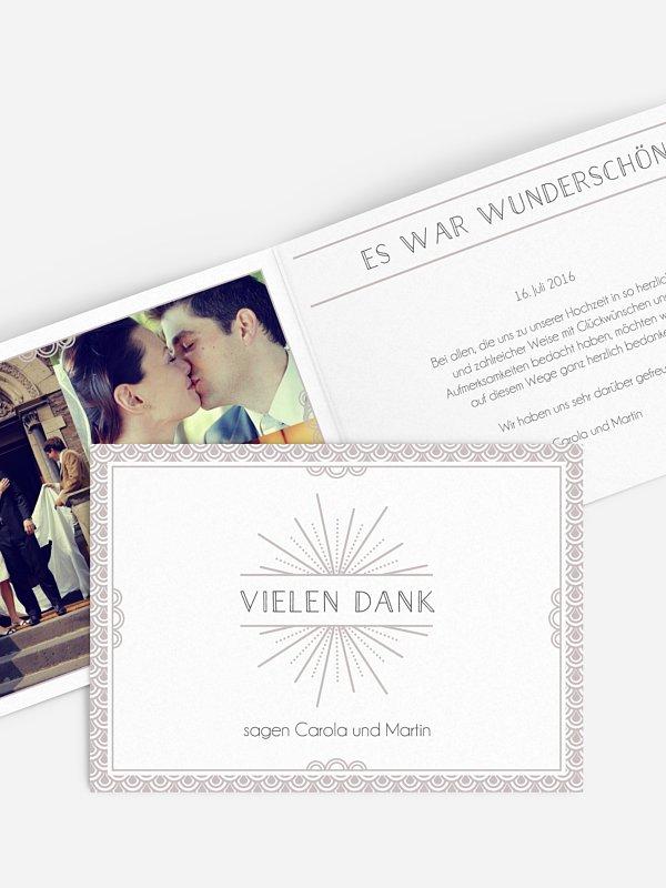 Dankeskarte Hochzeit Glam