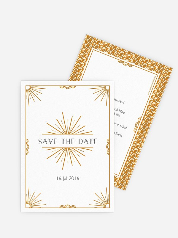 Save-the-Date Karte Glam