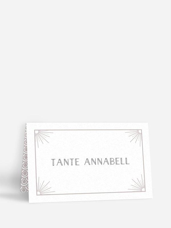 Tischkarte Hochzeit Glam