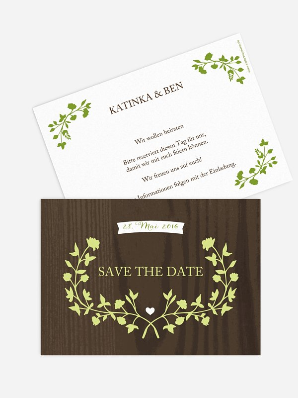 Save-the-Date Karte Country Chic